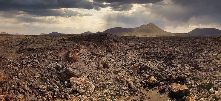 Moonscape, Volcanic Landscape, Lanzarote, Lava