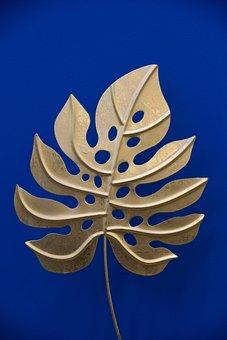 Leaf, Sheet Golden, Decoration, Gold Color