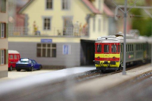 Train, Model Railway, Railway Station, Locomotive