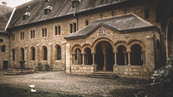 Abbey, Orval, Belgium, Monks, Cistercians, Rest
