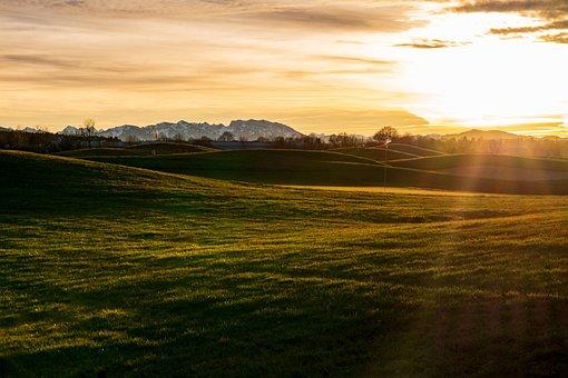 Golf Course, Golf, Mood, Winter, Autumn, Green, Grass