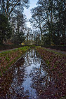 Landscape, Park, Water, Dig, Nature, Trees, Mirroring