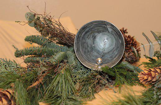 Christmas Decoration, Clock, Pinecones, Pine Branches