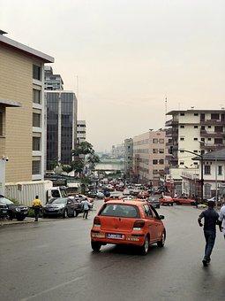 Abidjan, Plateau, Taxi, Street, Ivory Coast, City