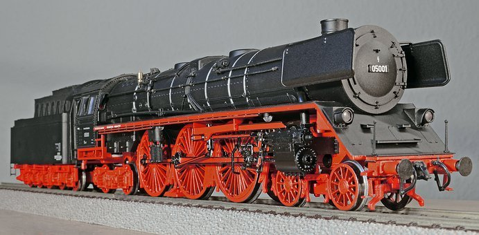 Model Train, Steam Locomotive, Express Train, Railway