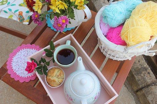 Tea Time, Tea, Relaxation, Rest, Garden, Rose, Taste