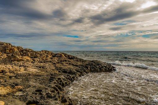 Rocky Coast, Rock, Sea, Nature, Landscape, Scenery