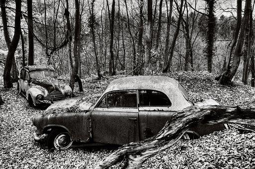 Auto, Car Cemetery, Pkw, Wreck, Nostalgia, Broken, Rust