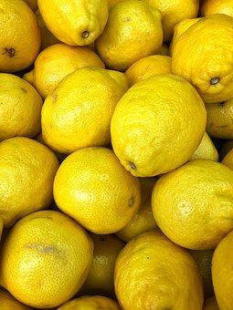 Yellow, Lemon, Fruit, Sour, Juicy, Citrus, Lemonade