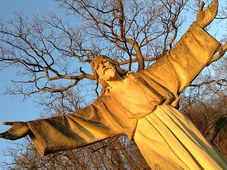 Jesus, Stone, Statue, Easter, Christmas