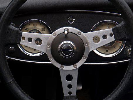 Morris, Classic, Steering Wheel, Car, Driving, Markers