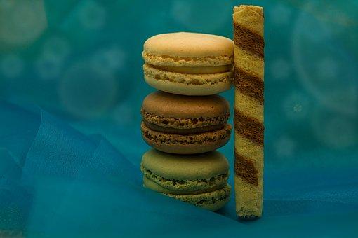 Macarons, Cookies, Pastries, Sweet, Double Biscuits