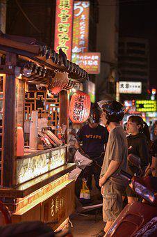 Food, Sidewalk, Taiwan, Night Market