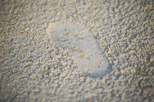 Footprint, Sand, Traces, Nature, Foot, Footprints
