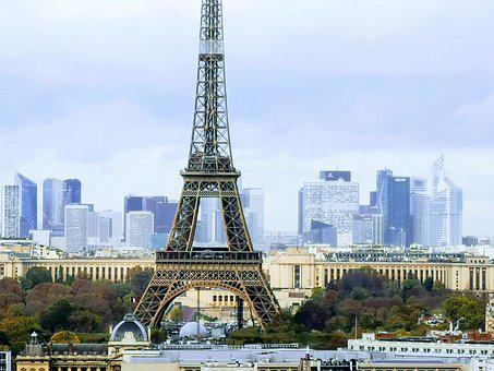 Paris, Eiffel Tower, City, La Défense, Trocadéro