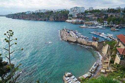 Travel, Marine, Waves, Nature, City, Antalya, Turkey