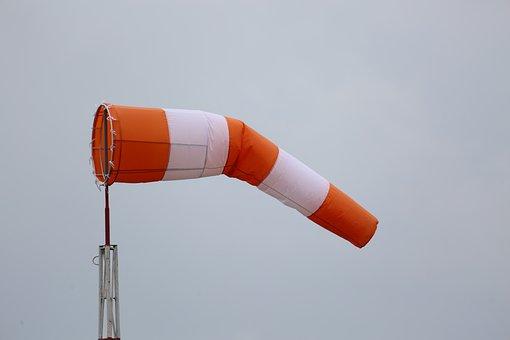 Wind Sock, Red, White, Sky, Weathervane, Weather
