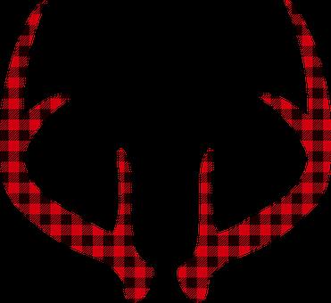 Deer Antlers, Red, Deer Silhouette, Deer, Stag, Animal