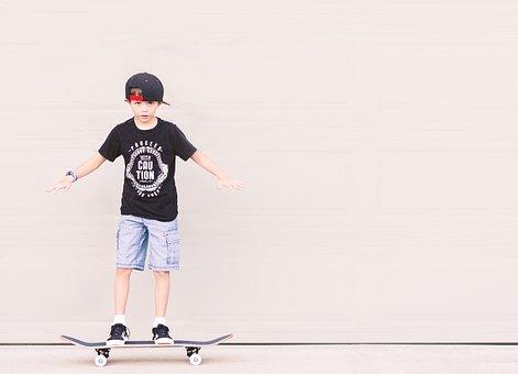 Skateboarding, Boy, Balance, Skateboard, Recreation