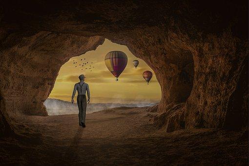 Manipulation, Cave, Hot Air Ballons, Balloons, Flying