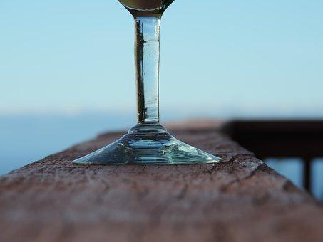 Wine Glass, Bottom, Drink, Alcohol, Ring, Blue Wine