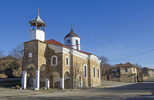 Village Church, Village Square, Bulgaria, Yantra