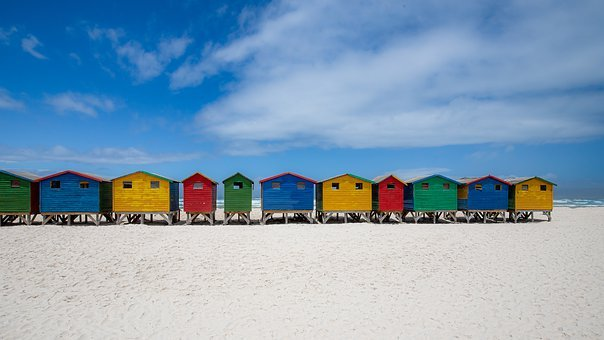 Cape Town, Color, Colorful, Beach Houses, Bathhouses