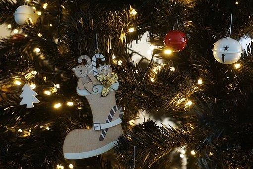 Christmas, Trim, Tree, Rattlesnake, Boot