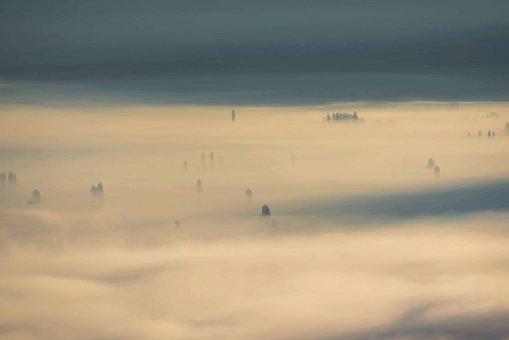 Fog, Cover, Lake, Amazing, Mood, Landscape, Fairytale