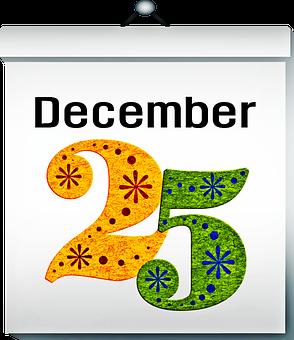 Calendar, December 25, Christmas, 25, X-mas, December