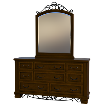 Dresser, Wooden, Furniture, Indoor, 3d, Render