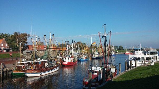 Greetsiel, Port, East Frisia, Fishing Boat