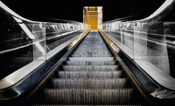 Escalator, Stairs, Railway Station, Metro, Traffic