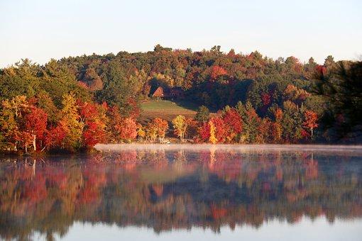 Fall Colors, Lake, Reflections, Nature, Landscape