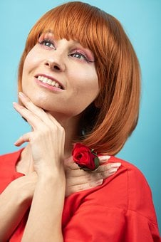 Redhead, Girl, Four Of A Kind, Haircut, Laying, Fashion