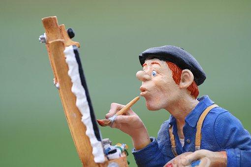 Painter, Art, Figure, Color, Brush, Artists