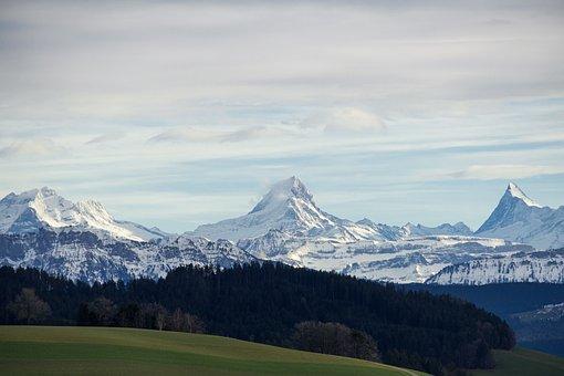 Wetterhorn, Schreckhorn, Finsteraarhorn, Bernese Alps