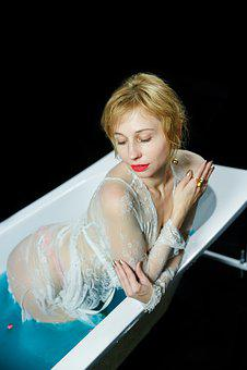 Girl, Photo Shoot In The Bathroom, Nude, Model, Beauty