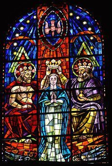 Stained Glass, Window, Church, Color, Glass, Coronation