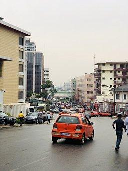 Abidjan, Plateau, City, Road, Taxi, Ivory Coast, Africa