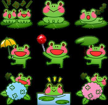 Kawaii Frog, Frog, Singing Frog, Swimming Frog, Toad