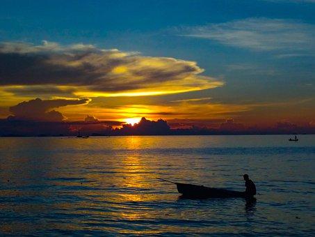 Sunset Silhouette, Beautiful Sunset, Koh Phangan