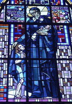 Stained Glass, Window, Church, Saint, Man