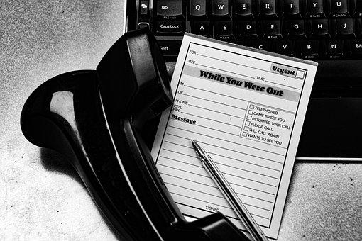 Message, Office, Business, Secretary, Call, Phone