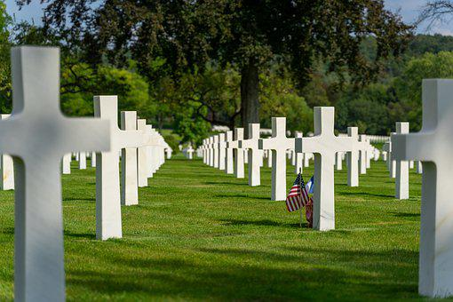 Cemetery, American, War, Military, Soldier, Falls