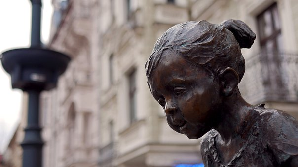 Monument, Child, Girl, Sculpture, Statue, Figure, Head