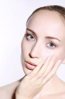 Natural, Young, Face, Eyes, Clean, Skin, Female, Hand