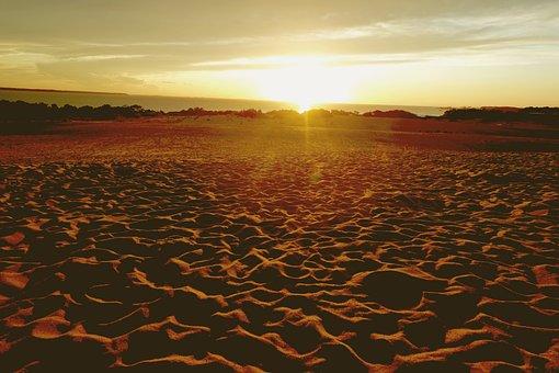 Sun Set, Sand Dunes, Outer Banks, North Carolina
