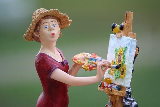 Painter, Art, Figure, Color, Brush, Artist