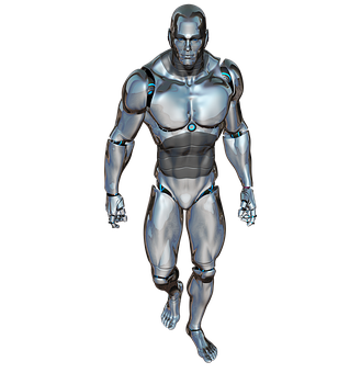 Man, Walking, Robot, Cyborg, Android, Robotics, Future